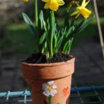 spring crafts flower pot