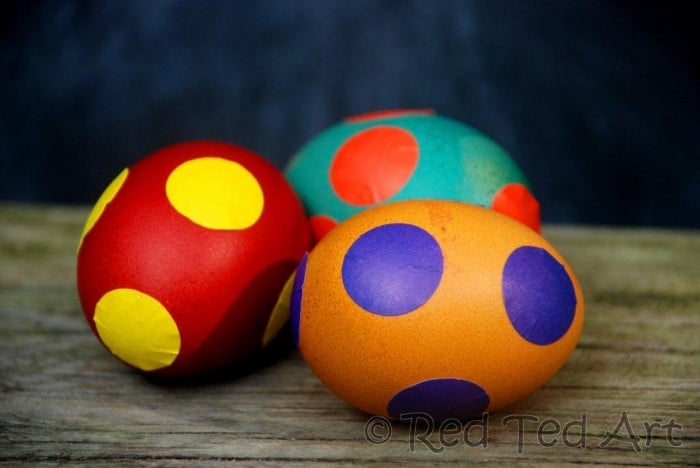 Easter Tree Decorating Quick Kids Craft Easy Spotty Eggs
