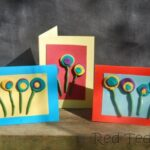 Polymer Clay Circle Flower Cards for Preschoolers