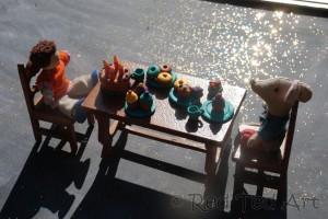 FIMO tea party cupcake