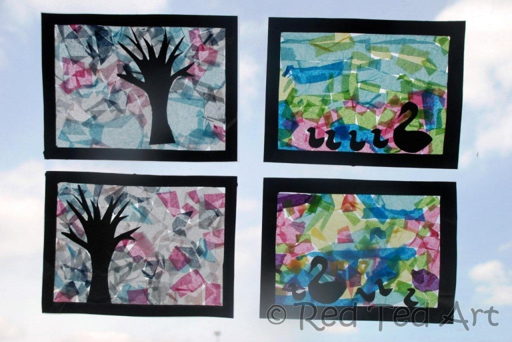 Kids Crafts Spring Colours Red Ted Art