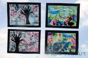 Four seasons toddler craft