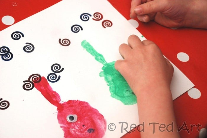 Handprint Crafts toddlers