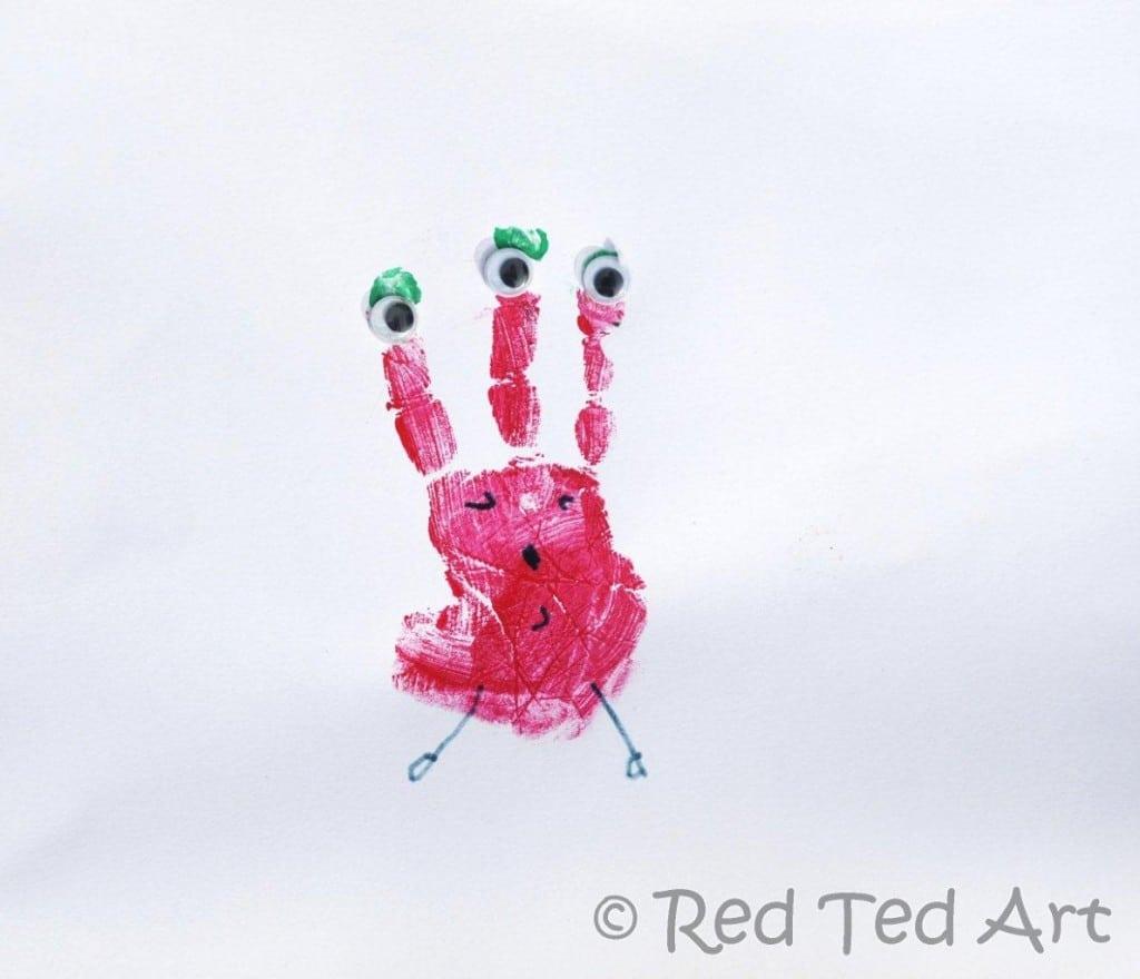 Handprint Crafts Aliens