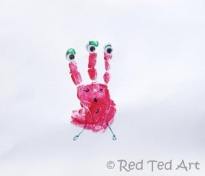 Handprint Crafts Aliens