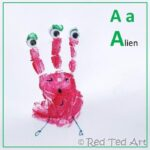 Handprint Alphabet – A for Alien