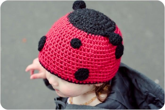 Ladybug hat crochet pattern