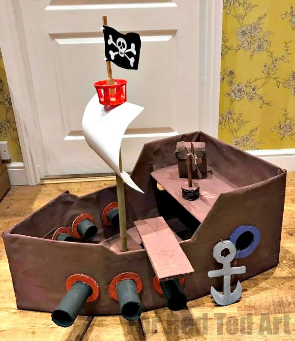 How To Make A Diy Pirate Ship Red Ted Art