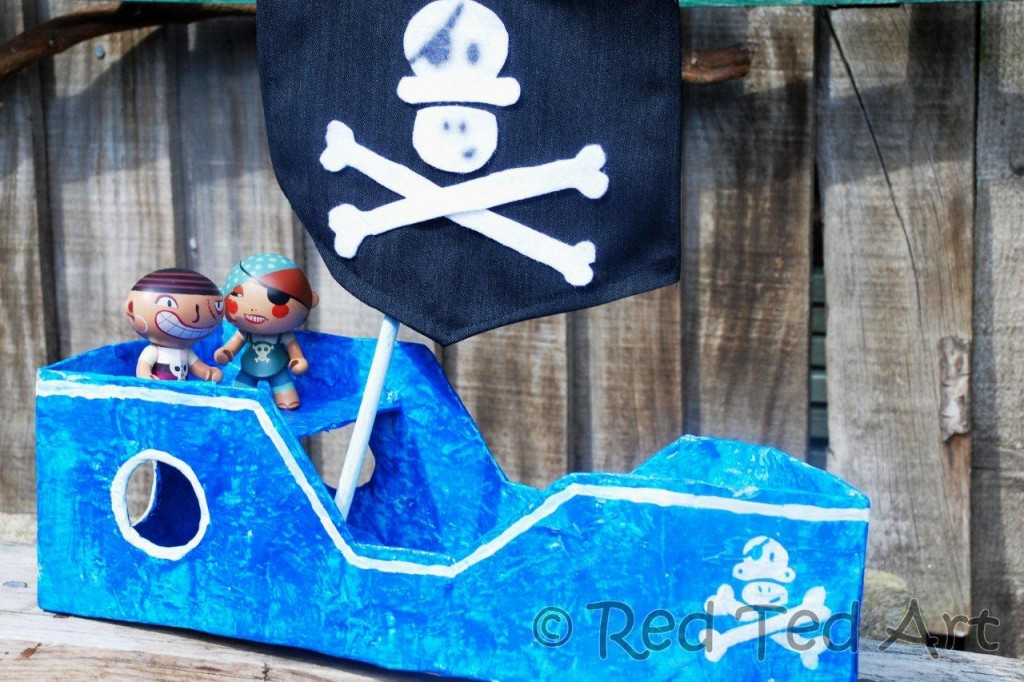 How To Make A Diy Pirate Ship Red Ted Arts Blog