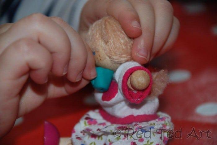 dolls FIMO tea party