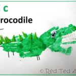 Handprint Alphabet – C is for Crocodile
