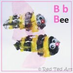 handprint crafts bee