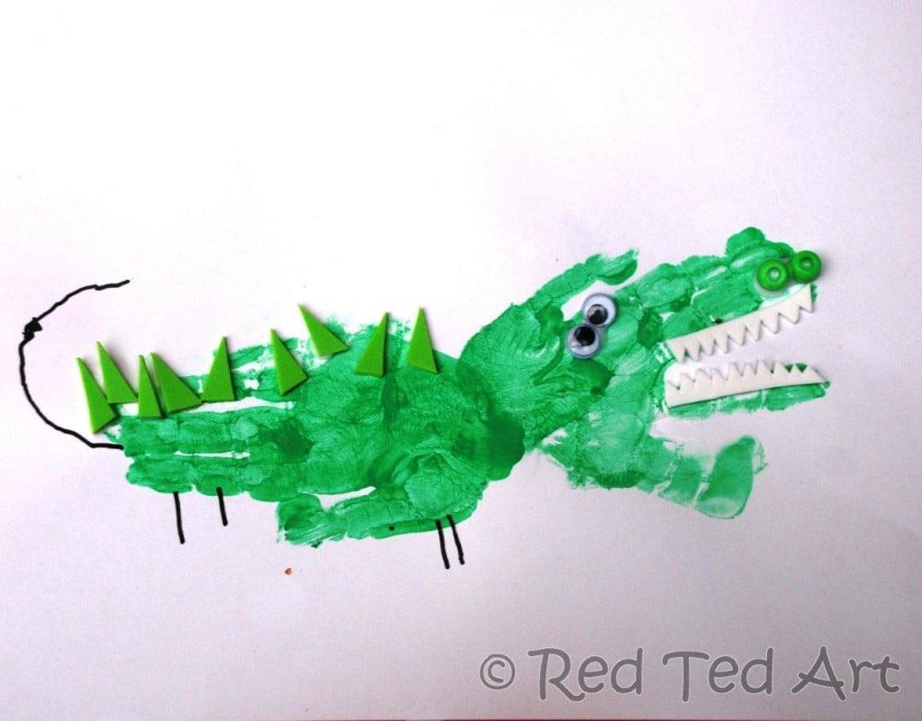handprint crafts crocs