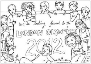 olympic colouring pages