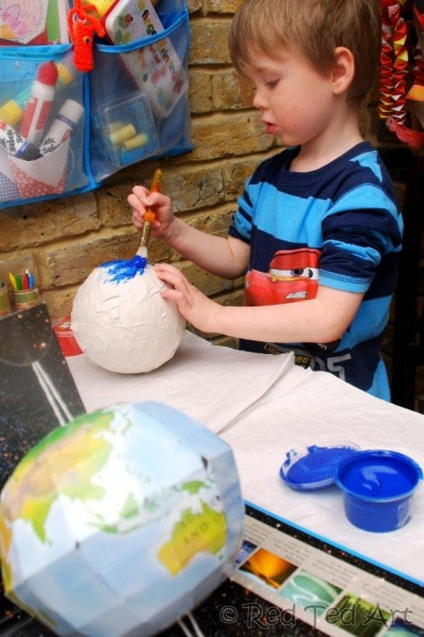 Kids Crafts: Solar System - Red Ted Art's Blog