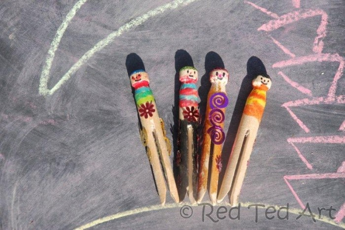 Kids Crafts: Clothes Pins Pirates