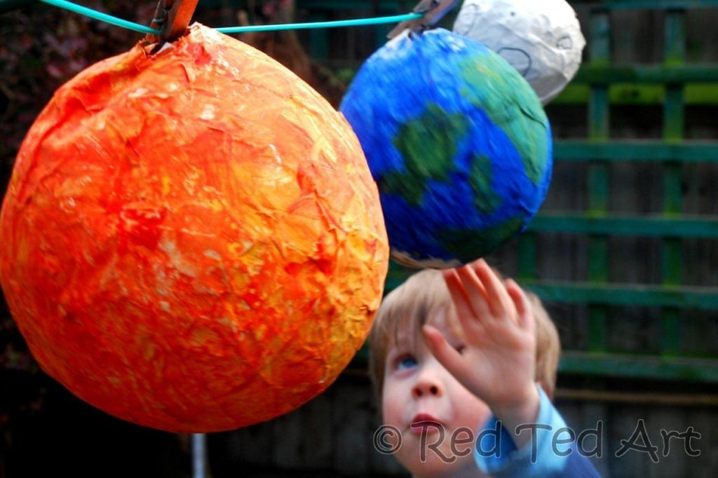 Kids Crafts Solar System Red Ted Arts Blog