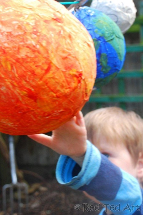 Kids Crafts Solar System Red Ted Art