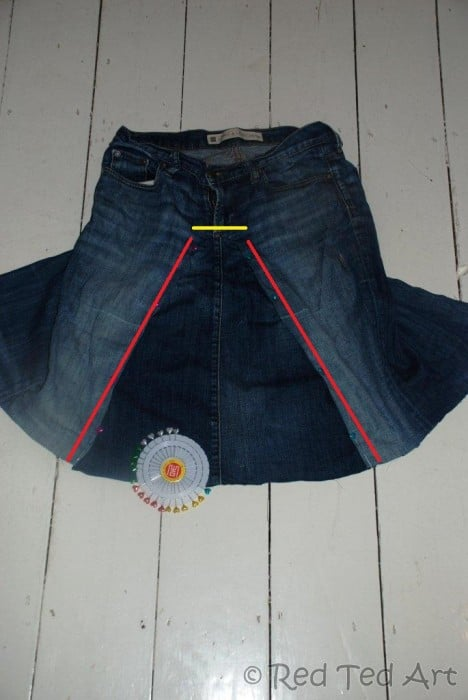 jeans to skirt