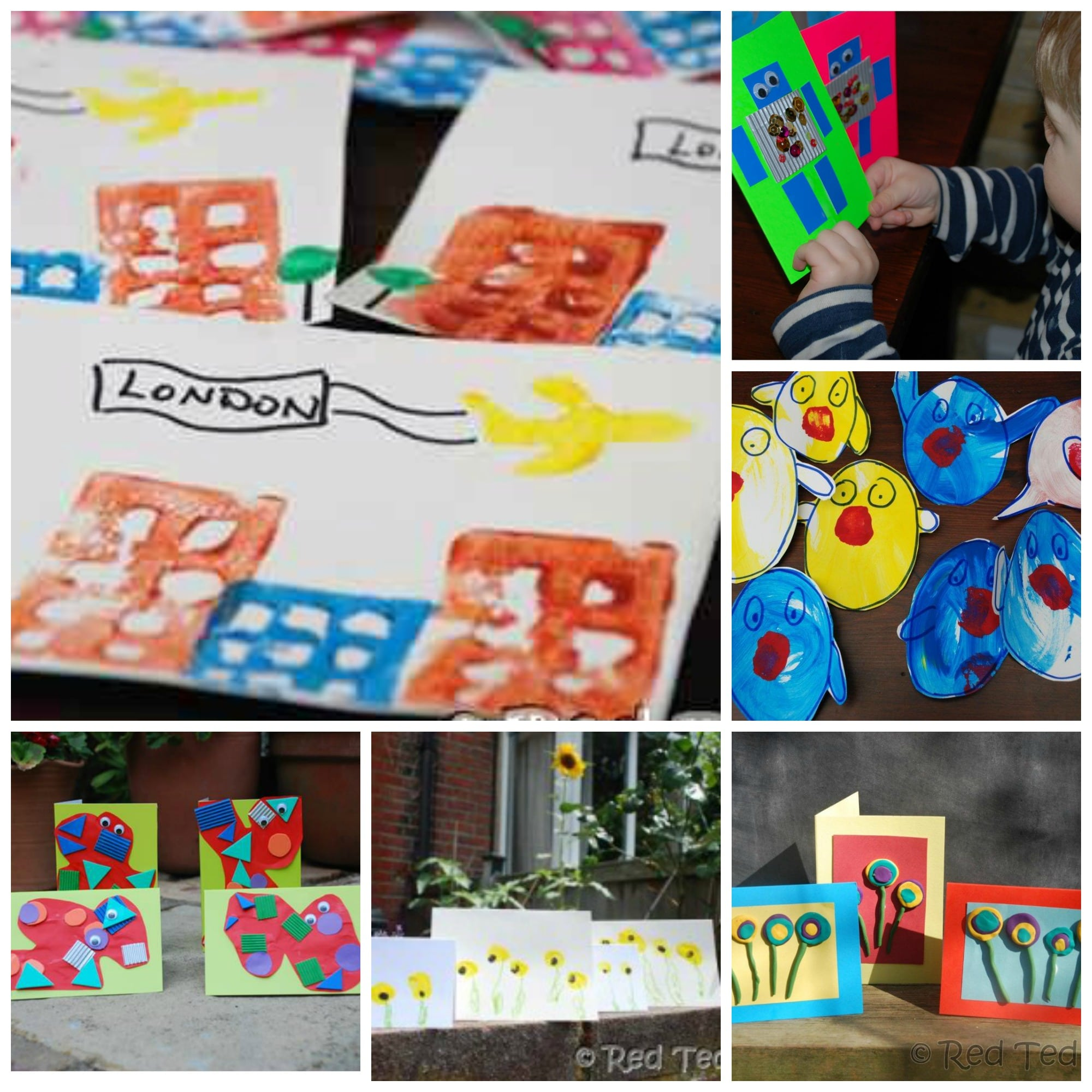 20 Card Making Ideas for Kids Red Ted Arts Blog – What to Write in a Kids Birthday Card