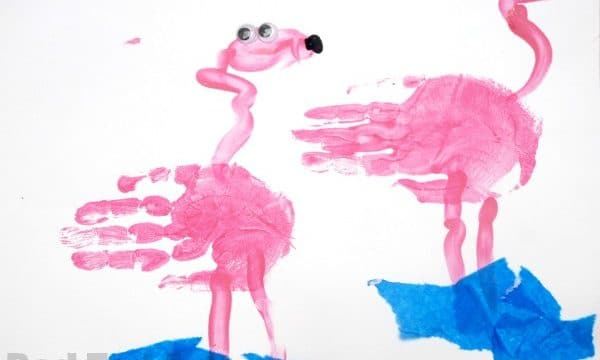 Handprint Alphabet – F is for Flamingo
