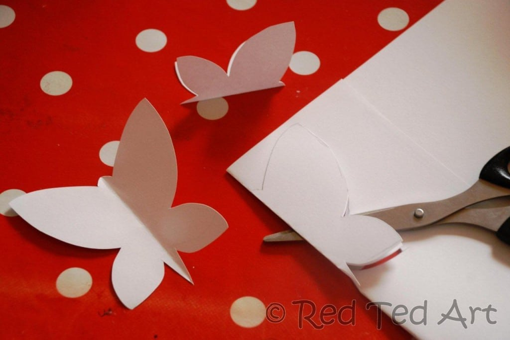 Kids crafts butterfly mobile red ted art 39 s blog for Butterfly art and craft