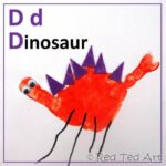 Handprint Alphabet – D is for Dinosaur