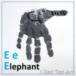 Handprint Alphabet – E is for Elephant