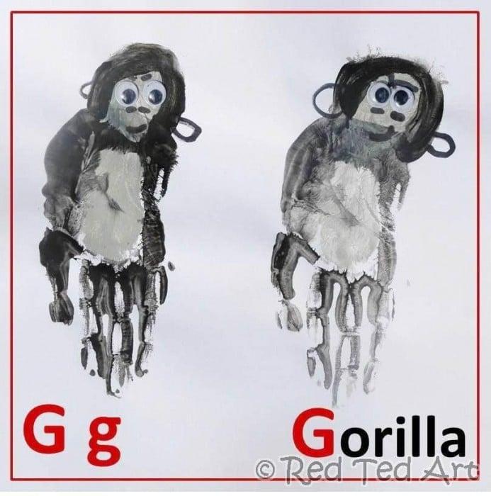 Handprint Alphabet – G is for Gorilla