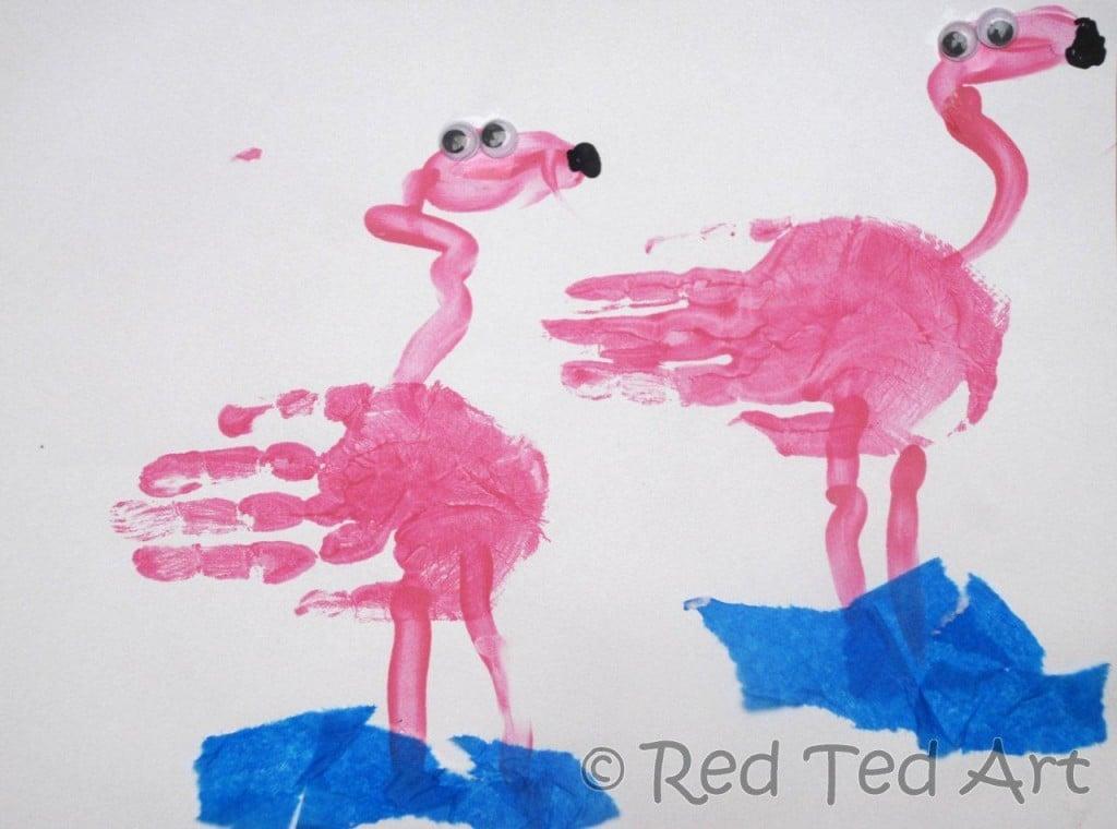 flamingo craft for kids