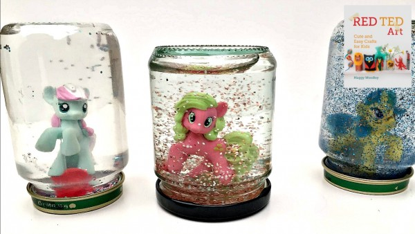 "my little pony snow globe how to - a great way to use up ""doubles"" from suprise bags"
