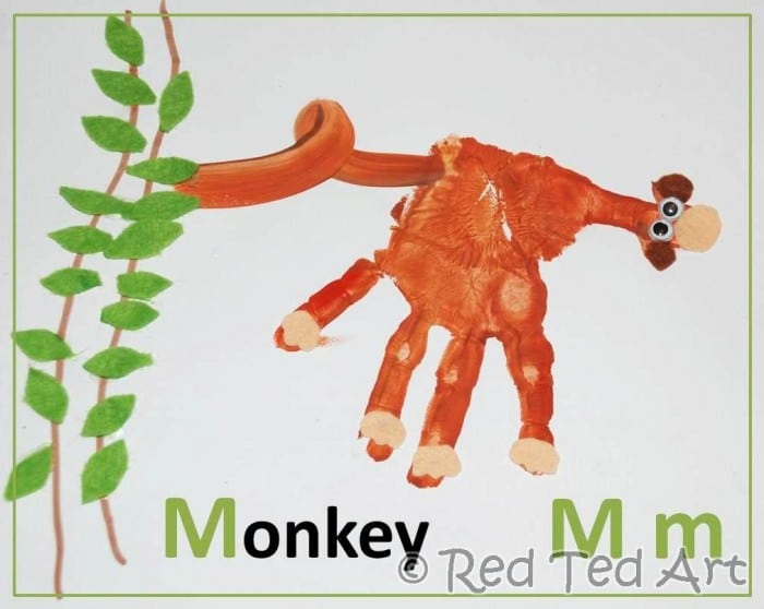 Handprint Alphabet – M for Monkey