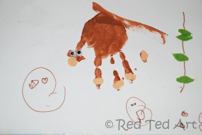 Handprint Alphabet - M for Monkey - Red Ted Art\'s Blog