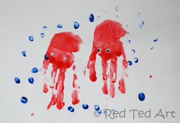 handprint jelly fish art