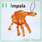 Handprint Alphabet – I is for Impala