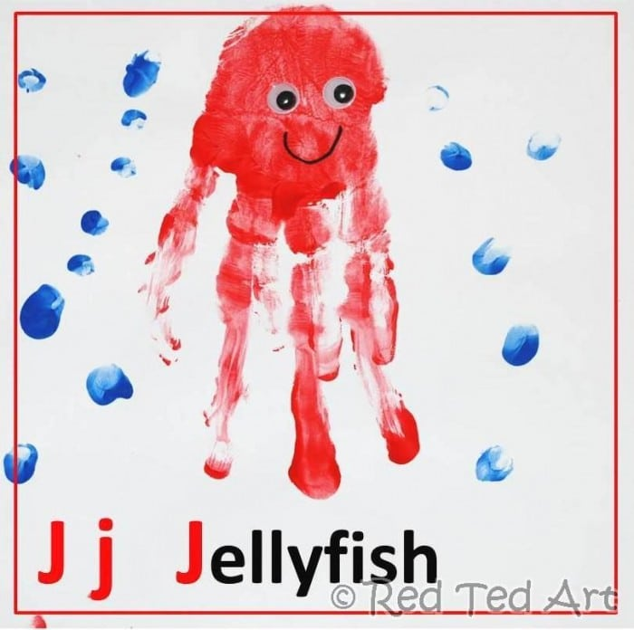 Handprint Alphabet – J for Jellyfish
