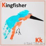 Handprint Alphabet – K for Kingfisher