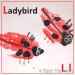 ladybird handprint craft