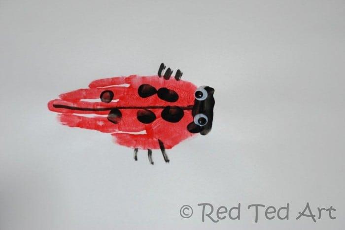 ladybug handprint
