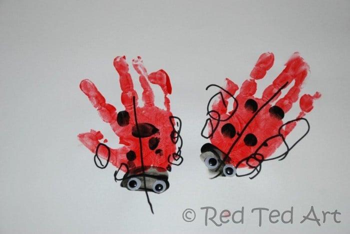 ladybug handprints