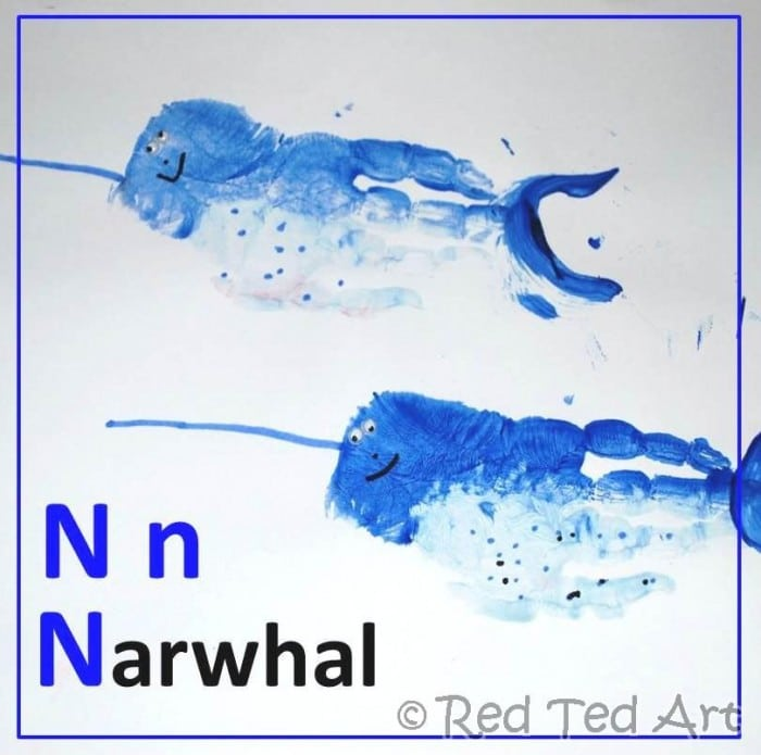 Handprint Alphabet – N for Narwhal