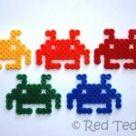Kids Crafts: Space Invader Hama Beads