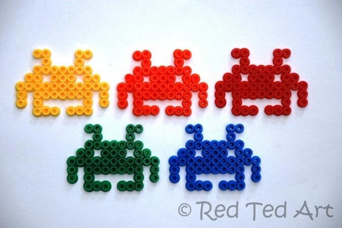 Kids Crafts: Space Invader Hama Beads