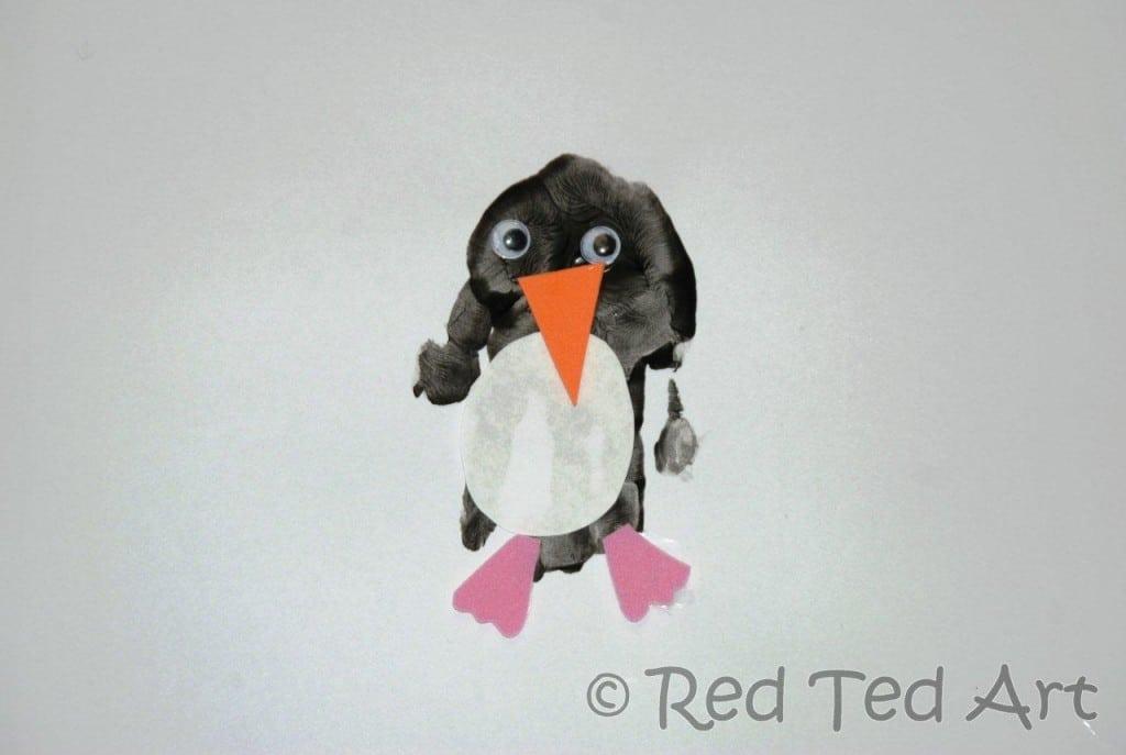 handprint alphabet penguins