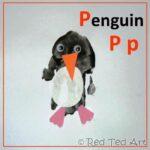 Handprint Alphabet P for… Penguin