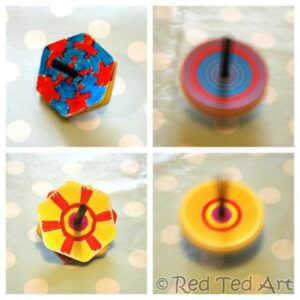 diy spinning tops