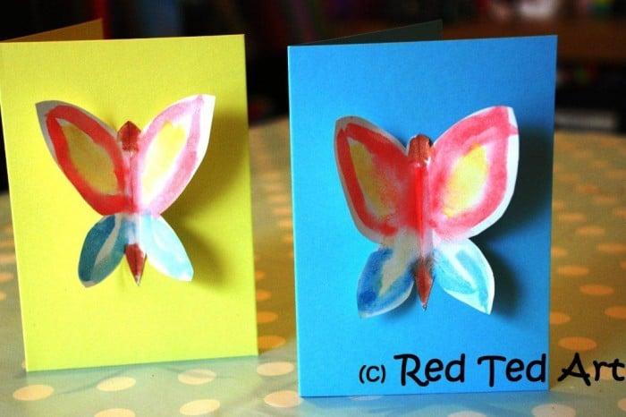 butterfly cards. Butterfly Crafts for Preschoolers - great summer crafts for kindergarten and up.. love these adorable Butterfly Activities #butterflies #summer #preschoolers