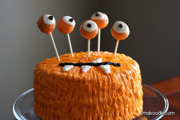 monster halloween cake