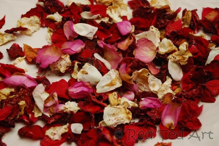 How To Rose Petal Wedding Confetti Red Ted Art