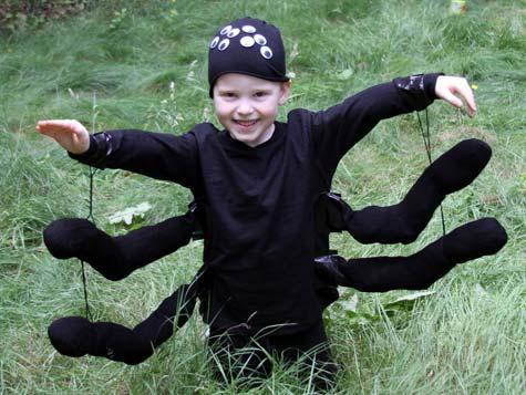 Паук на хэллоуин своими руками фото